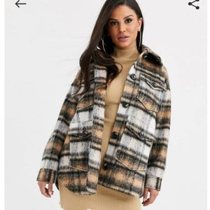 Brand new petite brushed check jacket